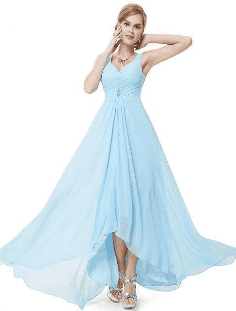 Double V Formal Evening Dress Evening Dresses