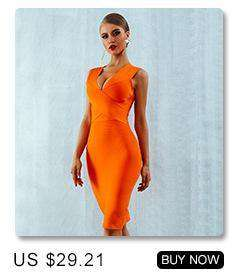 Dress Orange Red Tank Sexy Deep V-Neck Dresses