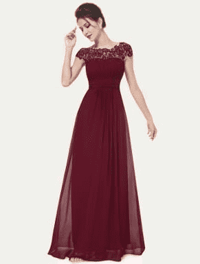 Elegant Deep V-Neck Ruched Bust Evening Dress Evening Dresses