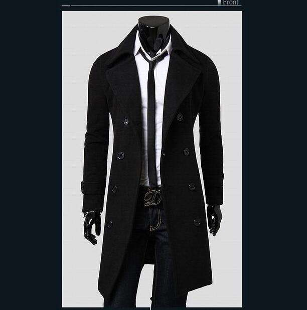 European Style Double Breasted Coat M.trench