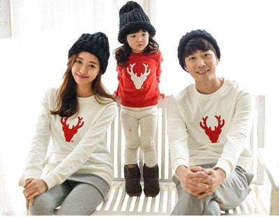 Family Matching Clothes Christmas Cotton Shirts