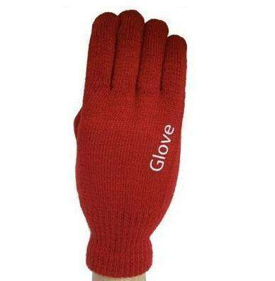 Fashion Touchscreen Gloves Red Gloves