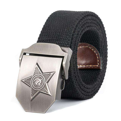 Five Rays Star Military Belt 3D Black / 110Cm Belts
