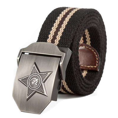 Five Rays Star Military Belt 3D Black Stripes / 110Cm Belts