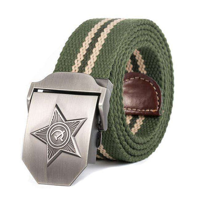 Five Rays Star Military Belt 3D Green Stripes / 110Cm Belts