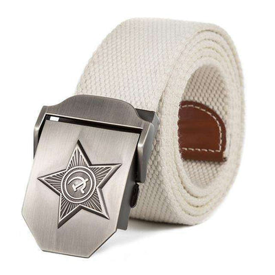 Five Rays Star Military Belt 3D Rice White / 110Cm Belts
