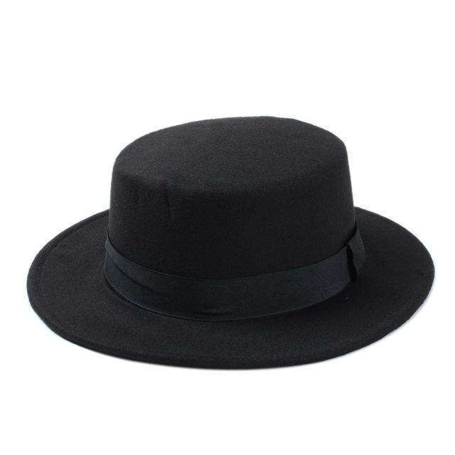 Flat Dome Oval Top Bowler Sun Hat Fedoras