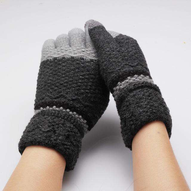 Full Fingers Knitting Winter Gloves Gloves