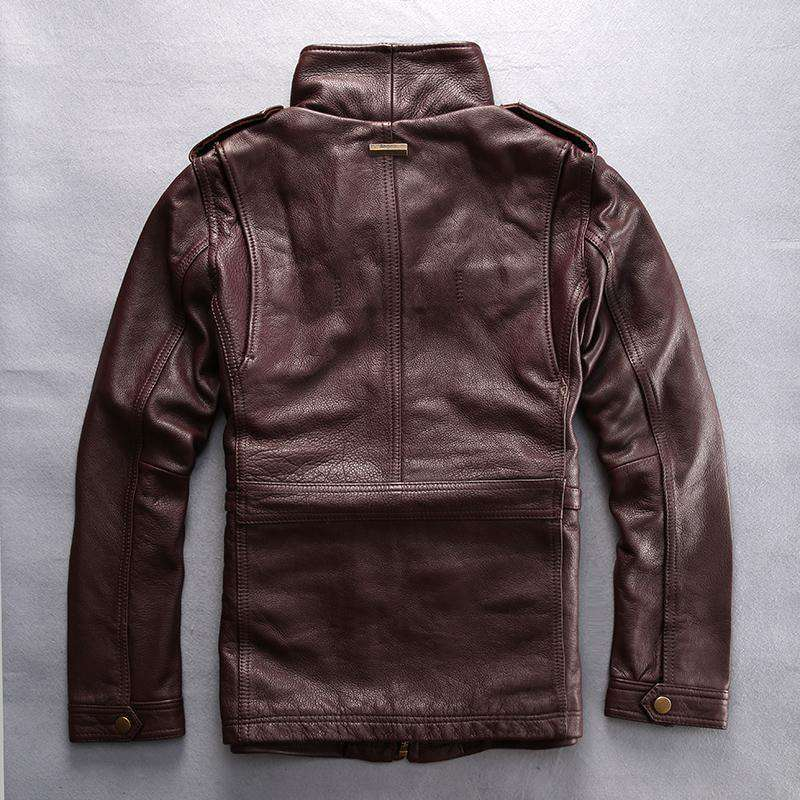 Genuine Cow Leather Slim Jacket Leather