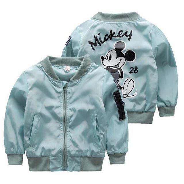 Girls Boys Coat Cartoon Printed Flight Jacket Pink / 3T