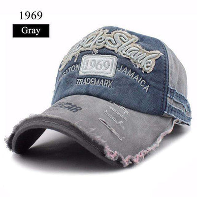 Gorras Snapback Baseball Caps 1969 Gray Baseball Caps