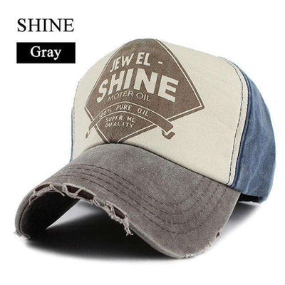Gorras Snapback Baseball Caps Shine Gray Baseball Caps