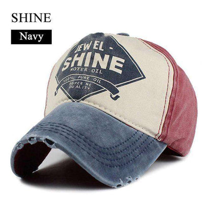 Gorras Snapback Baseball Caps Shine Navy Baseball Caps