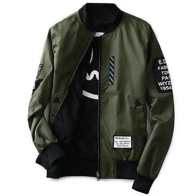 Green Both Side Wear Thin Pilot Bomber Jacket Army Green / M Jackets