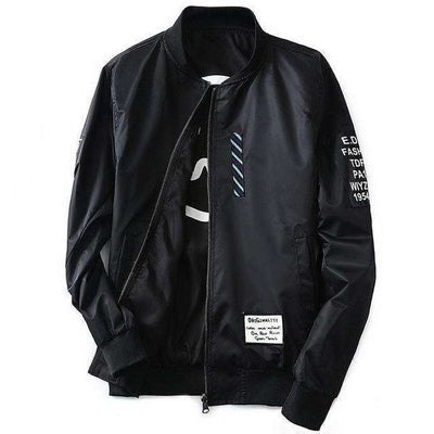 Green Both Side Wear Thin Pilot Bomber Jacket Black / M Jackets