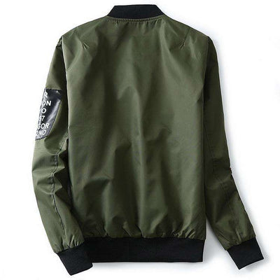 Green Both Side Wear Thin Pilot Bomber Jacket Jackets