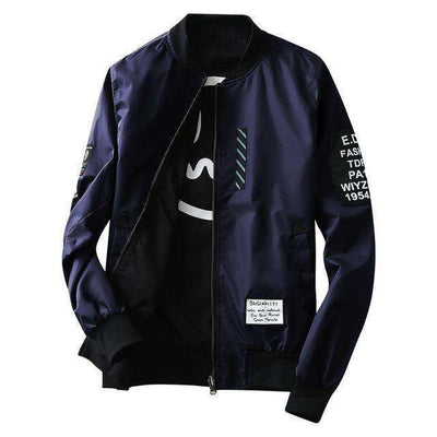Green Both Side Wear Thin Pilot Bomber Jacket Navy / M Jackets