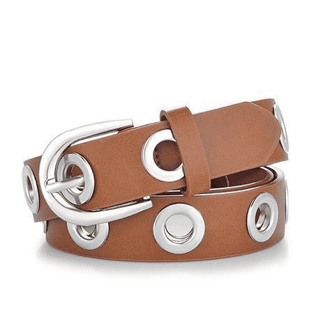 Grommet Duo Euramerican Style Designer Pu Leather Strap Belt Belts