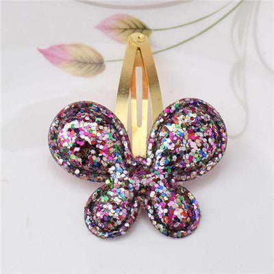 Hair Accessorie Barrettes Glitter Stars Bb Clip Butterfly Colorful