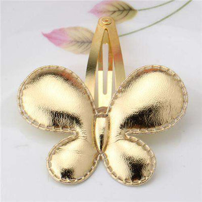 Hair Accessorie Barrettes Glitter Stars Bb Clip Butterfly Golden