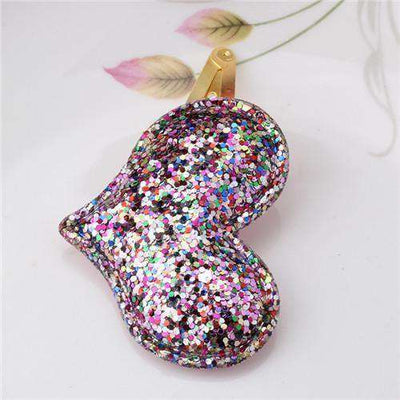 Hair Accessorie Barrettes Glitter Stars Bb Clip Heart Colorful