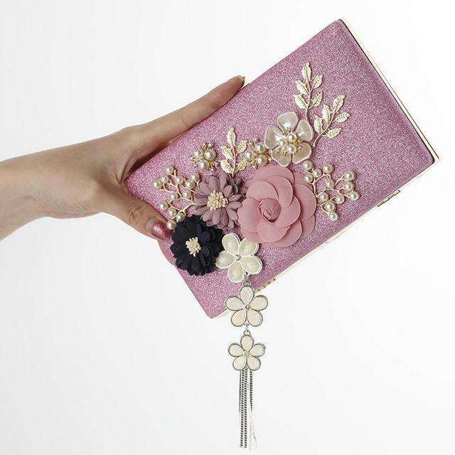 Handmade Floral Evening Bags Wedding Clutch Bags