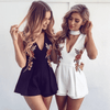 Hanging Elegant Rose Bodysuit Rompers