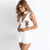 Hanging Elegant Rose Bodysuit White / Xxl Rompers