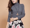 High Collar Winter Sweater Dark Gray / S W.sweaters