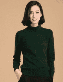 High Collar Winter Sweater Dark Green / S W.sweaters