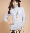 High Collar Winter Sweater Light Gray / S W.sweaters