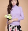 High Collar Winter Sweater Light Purple / S W.sweaters