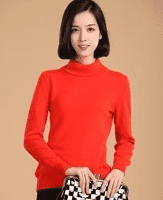 High Collar Winter Sweater Orange / S W.sweaters