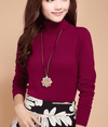 High Collar Winter Sweater Red Wine / S W.sweaters