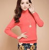High Collar Winter Sweater Watermelon Red / S W.sweaters