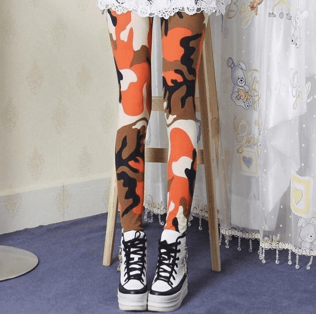 High Elastic Skinny Camouflage Leggings K208 Camouflage 5 / One Size Leggings