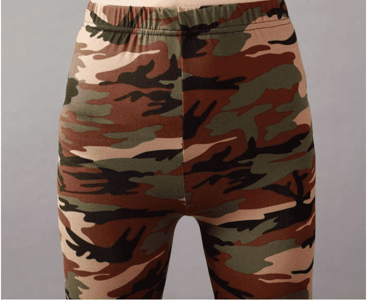 High Elastic Skinny Camouflage Leggings Leggings