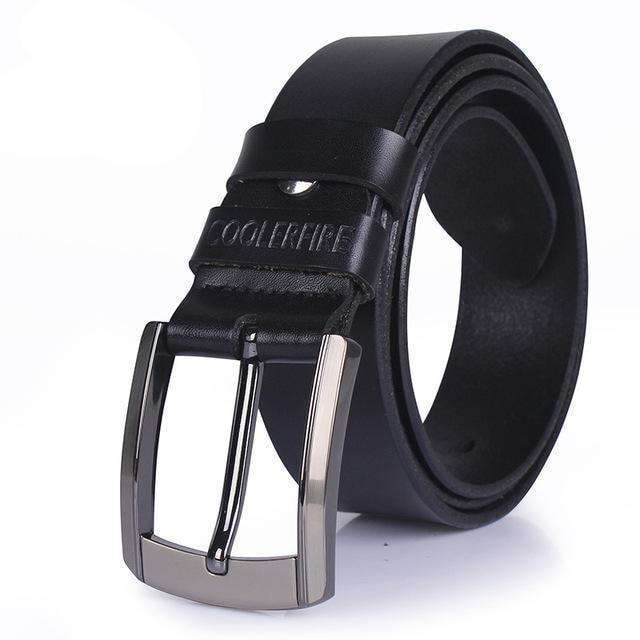 High Quality Genuine Cowskin Leather Belt Coffee / 100Cm Belts