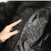 High Quality Short Fox Fur Overcoat Real Fur