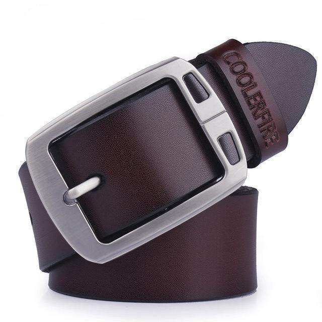 High Quality Strap Mens Genuine Leather Belt Hq038Coffee / 100Cm Belts