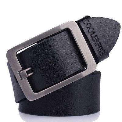 High Quality Strap Mens Genuine Leather Belt Hq022Black / 100Cm Belts