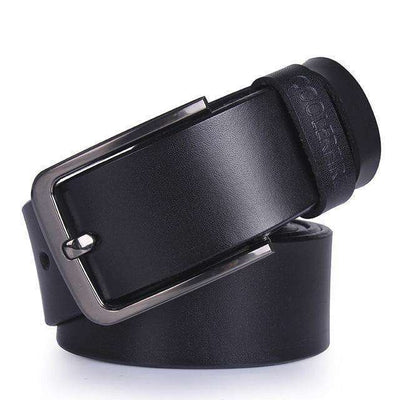 High Quality Strap Mens Genuine Leather Belt Hq034Black / 100Cm Belts
