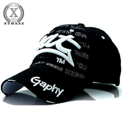 Hip Hop Fitted Cheap Hats Black / Adjustable Baseball Caps