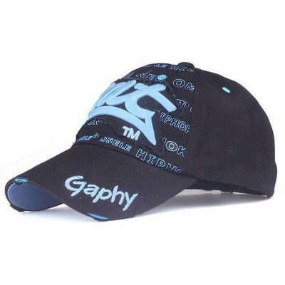 Hip Hop Fitted Cheap Hats Black Blue / Adjustable Baseball Caps