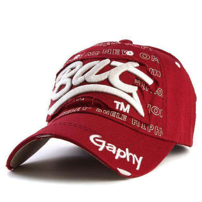 Hip Hop Fitted Cheap Hats Deep Red / Adjustable Baseball Caps