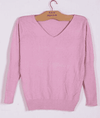Hot V-Neck Sweater Pink / S W.sweaters