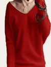 Hot V-Neck Sweater Red / S W.sweaters