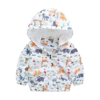 Jacket Boys Outerwear Coats Active Boy Windbreaker Giraffe White / 3T