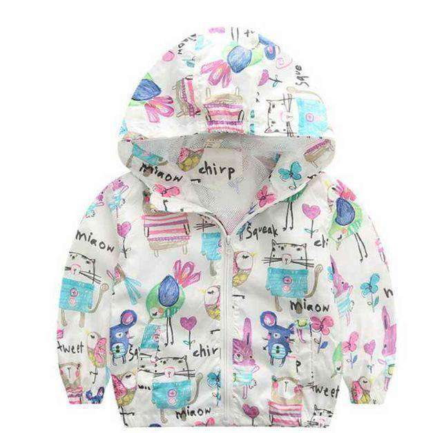 Jacket Boys Outerwear Coats Active Boy Windbreaker White Dinosaur / 3T