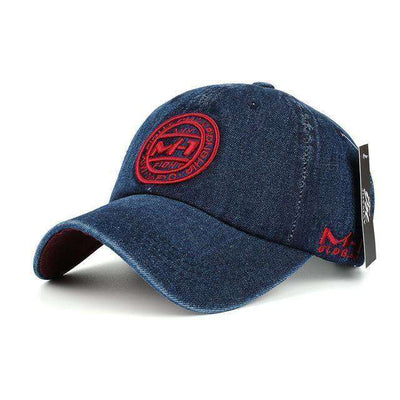 Jean Badge Embroidery Hat Red Baseball Caps